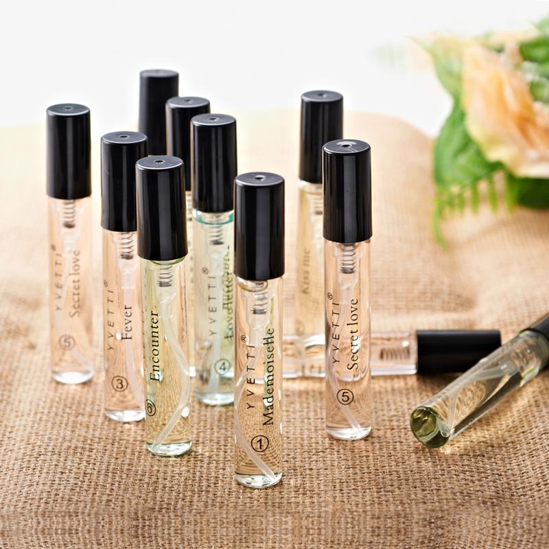 希汀香水女士持久淡香学生少女清新自然6只小瓶试管香水礼盒套装