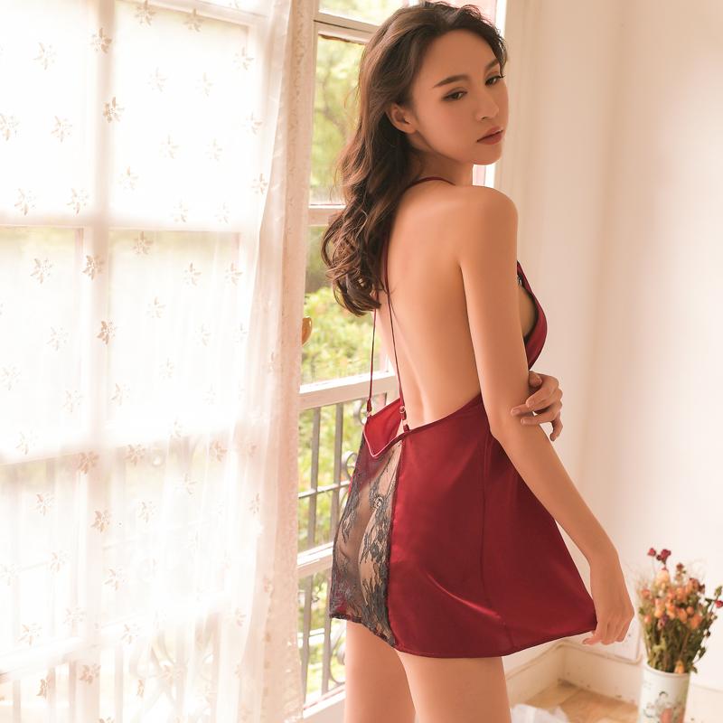 蕾丝性感睡衣女夏季透明情趣火辣睡裙大码挑逗短裙成人床上激情骚