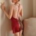 维多利亚维密妮奥秘性感睡衣火辣骚薄款蕾丝透明吊带露背情趣睡裙