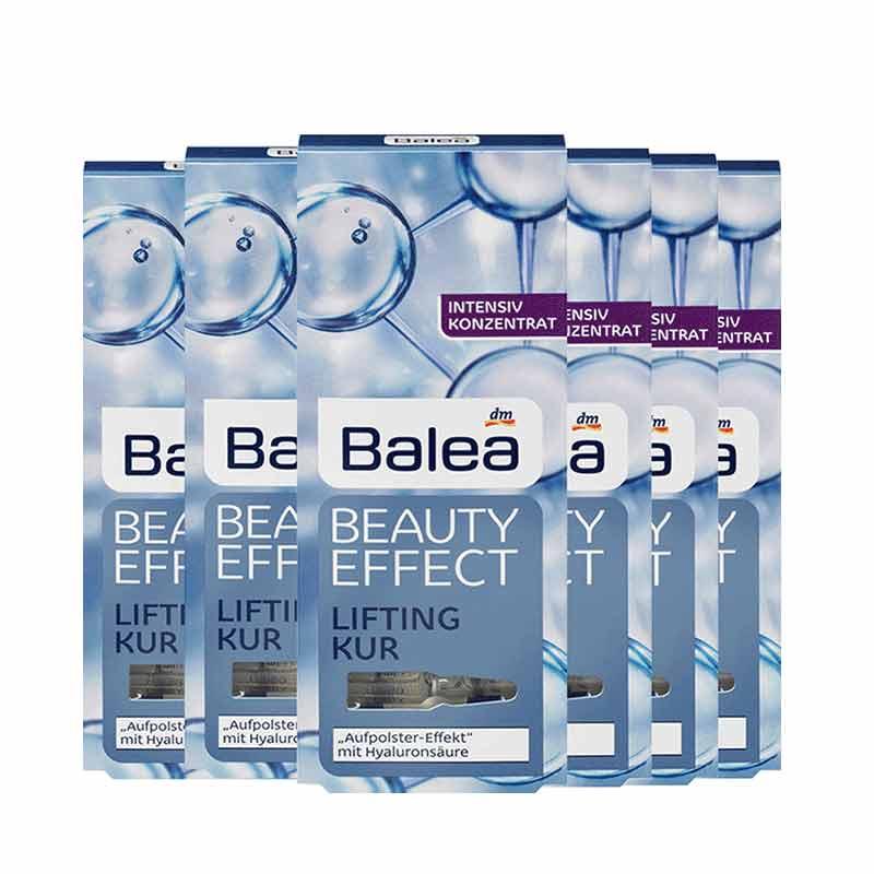 德国dm芭乐雅balea玻尿酸涂抹式补水保湿浓缩精华原液安瓶6盒套组