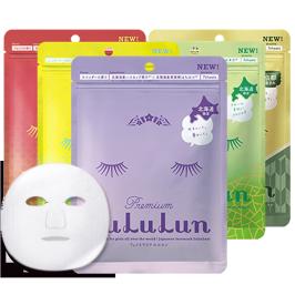 lululun日本地域限定款天然植物精油面膜组合35片 补水保湿