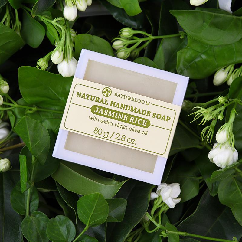 泰国Bath&Bloom茉莉香米手工皂  温和补水滋润洁面沐浴皂精油皂