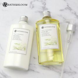泰国Bath&Bloom明星茉莉身体护理2件套 沐浴露260ML+身体乳260ML