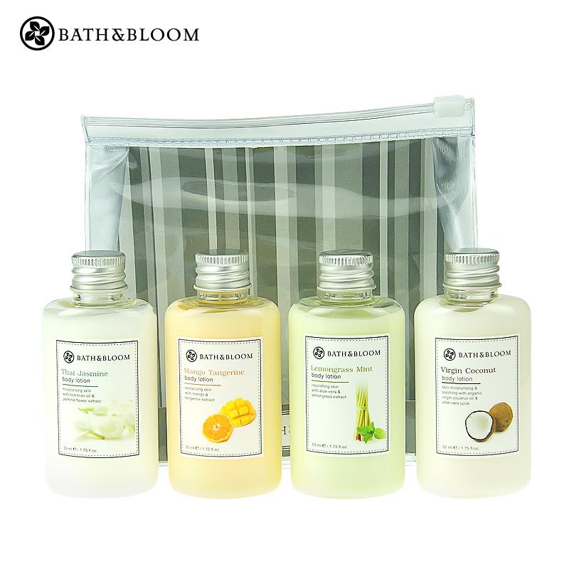泰国Bath&Bloom身体乳焕白补水旅行装4件套装 全天滋润保湿去鸡皮