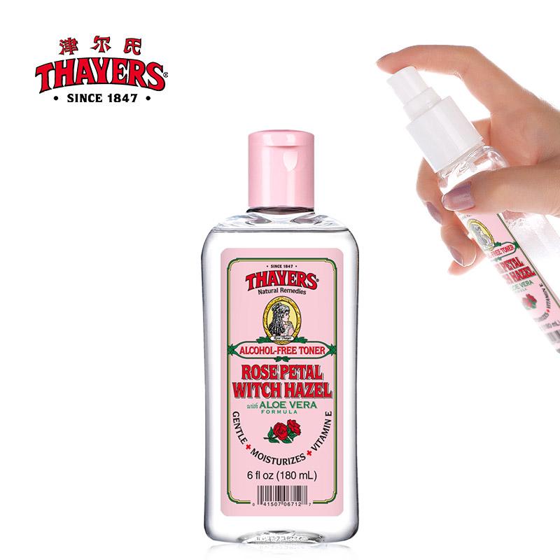 津尔氏Thayers金缕梅180ml美国进口玫瑰水补水保湿润泽肌肤爽肤水