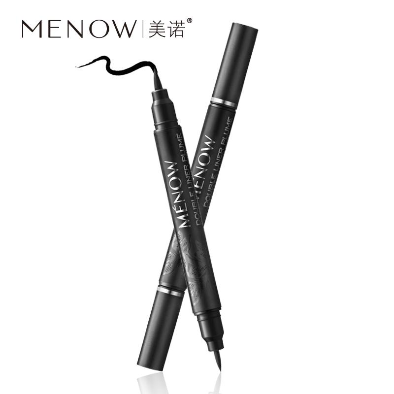 MENOW/美诺 持久速干防水防汗软头眼线液不易晕染双头眼线笔