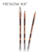 MENOW/美诺 原木眉笔持久防水不晕染带眉刷双头眉笔眉粉