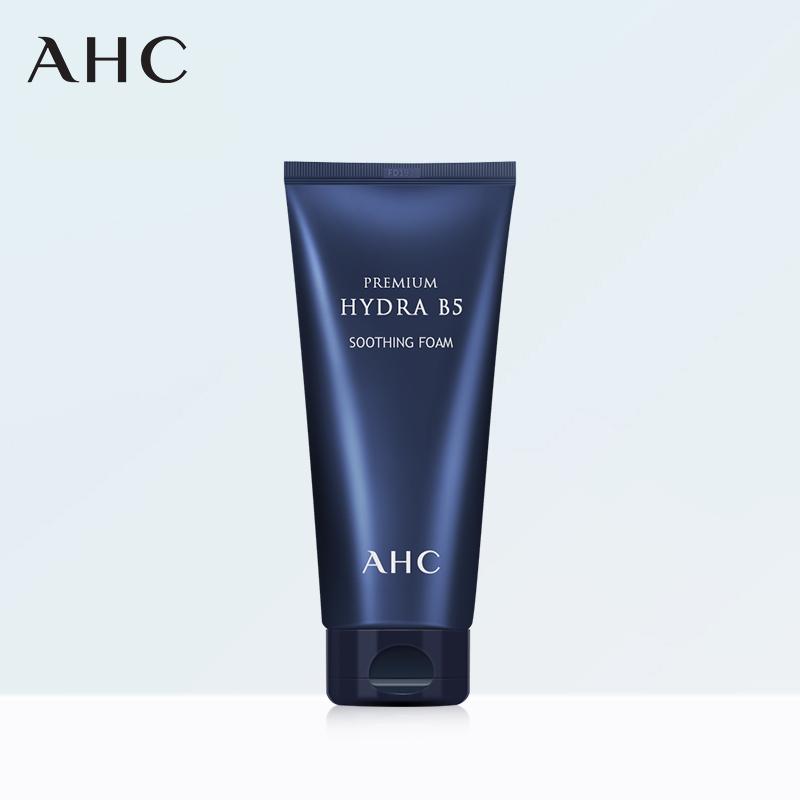 韩国AHC B5玻尿酸 深层清洁保湿补水控油泡沫男女洗面奶180ml进口