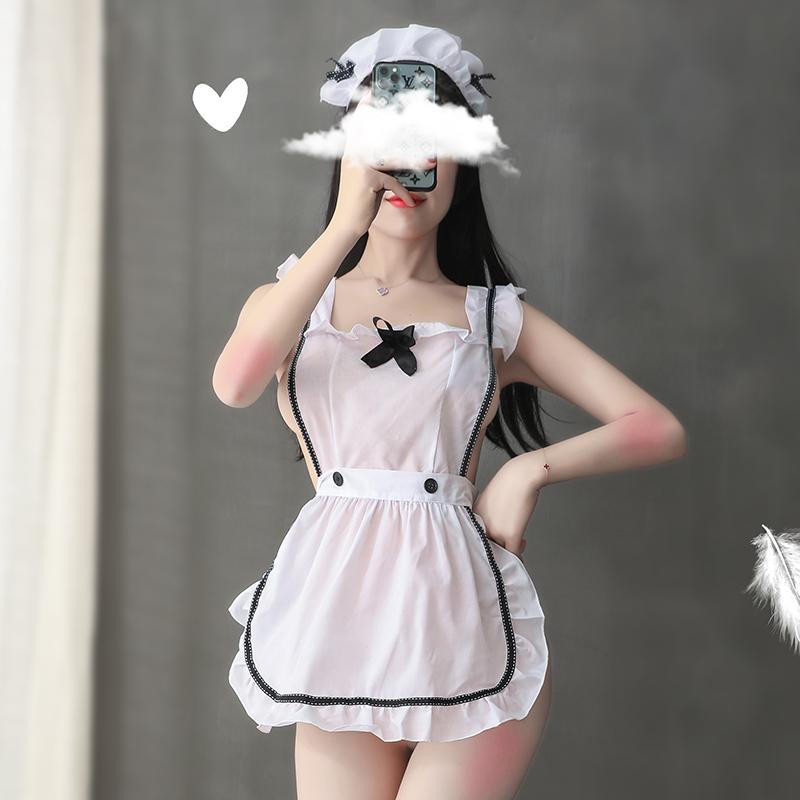 卡杰芮情趣内衣性感女仆装女佣制服免脱短围裙激情套装超诱惑厨房