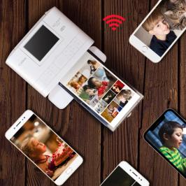 小型便携式无线手机照片打印机家用迷你彩色热升华冲印机口袋打印佳能CP1300打照片机器(拍前联系客服)