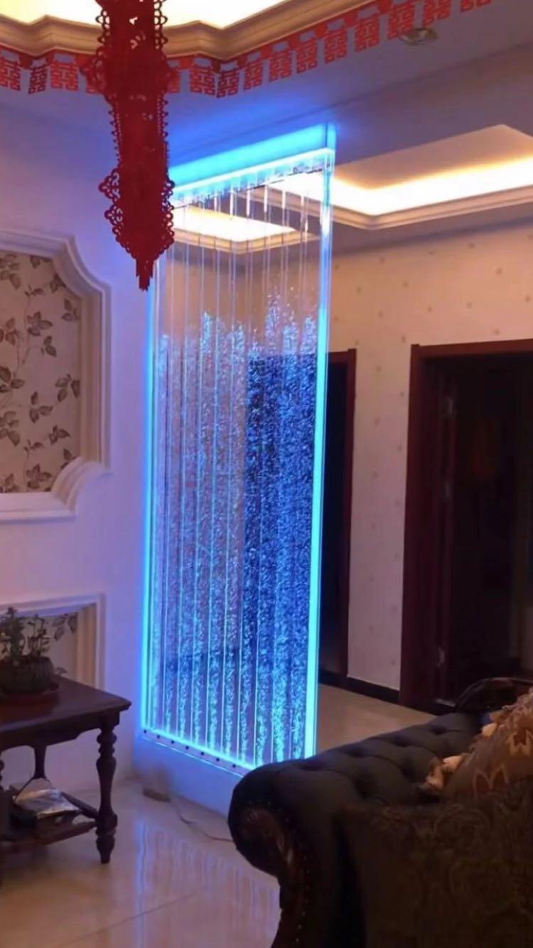 水幕墙流水墙气泡 大型亚克力屏风隔断玄关鱼缸客厅水族箱定制