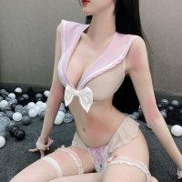 激情情趣内衣套装超骚透明变态开档火辣小胸显大极度诱惑可爱学生
