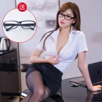 性感情趣内衣服制服诱惑骚女秘书夜店包臀OL老师职业透明激情套装