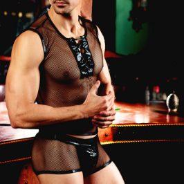 欧美新款见描述情趣内衣男仆性感套装夜店男佣表演装外贸