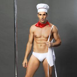 男士情趣内衣欧美跨境性感男厨扮演情趣制服诱惑夜店酒吧表演