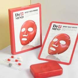 韩国Dr.mind净肤红面膜保湿补水修护镇静肌肤水油平衡