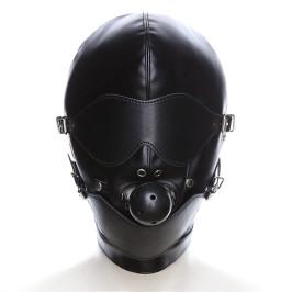 另类玩具sm刑具狗奴调教用品可拆卸眼罩口塞头套口罩面具捆绑束缚