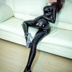 乳胶衣 女 伪娘立体乳胶紧身衣  3D 分割女塑身连体衣 可带假乳