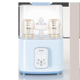 倍尔乐婴儿奶瓶消毒器温奶器带烘干机三合一蒸汽锅柜暖奶器二合一