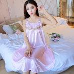 私房睡衣女夏超薄冰丝激情大码床上蕾丝挑逗情趣火辣性感免脱睡裙