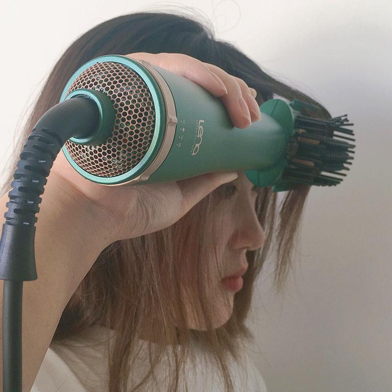 lena负离子直发梳吹风机头发蓬松神器家用理发店不伤发内扣吹风梳