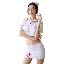 情趣内衣女式两侧开衩诱惑性感镂空护士裙制服套装新品A-