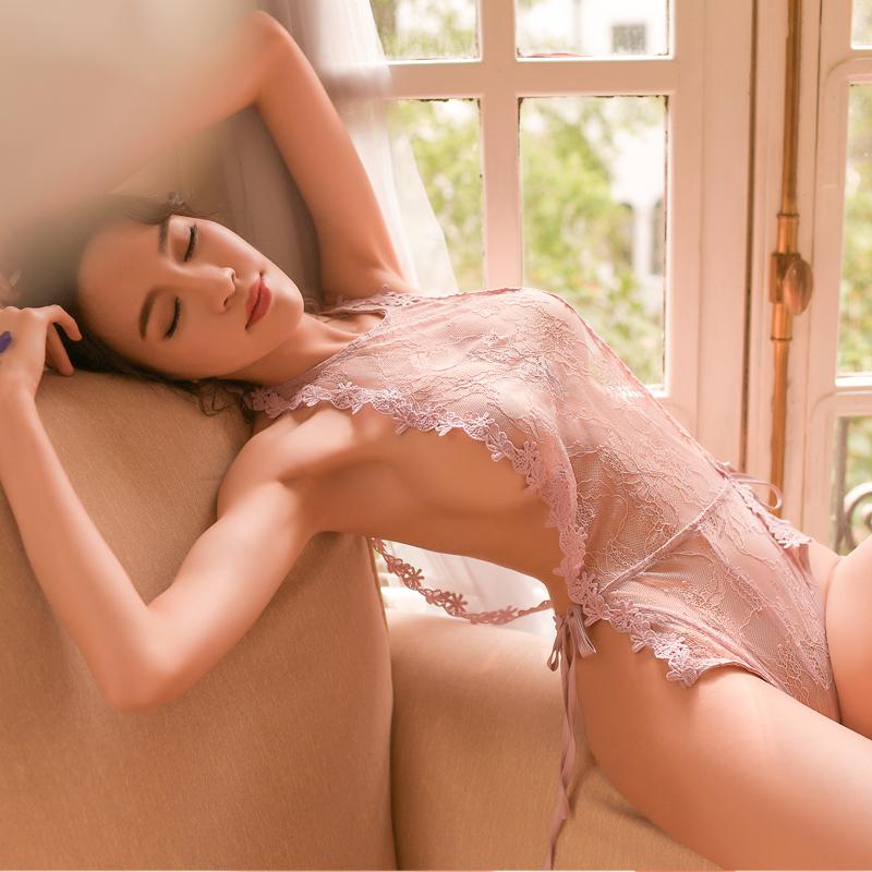 肚兜式内衣情趣古典蕾丝睡衣性感火辣诱惑宫廷透明薄纱套装骚女夏