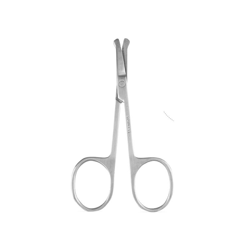 BLD贝览得不锈钢圆头鼻毛剪 鼻毛修剪器 化妆美容剪刀