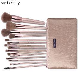 shebeauty15支化妆刷套装超柔软散粉腮红刷眼影刷全套专业化妆刷