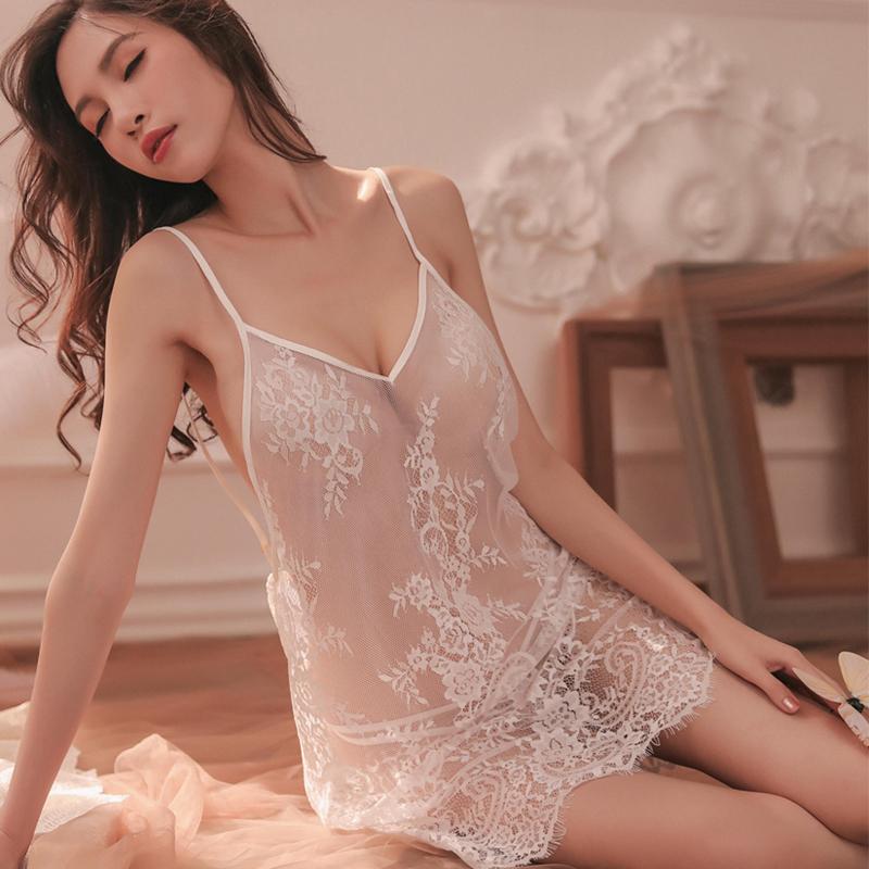 性感床上透明情趣内衣睡衣挑逗露乳变态开档蕾丝诱惑激情套装超骚