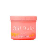 【进口保税】ohbaby身体磨砂膏西柚柠檬香350g蚕丝精华去角质