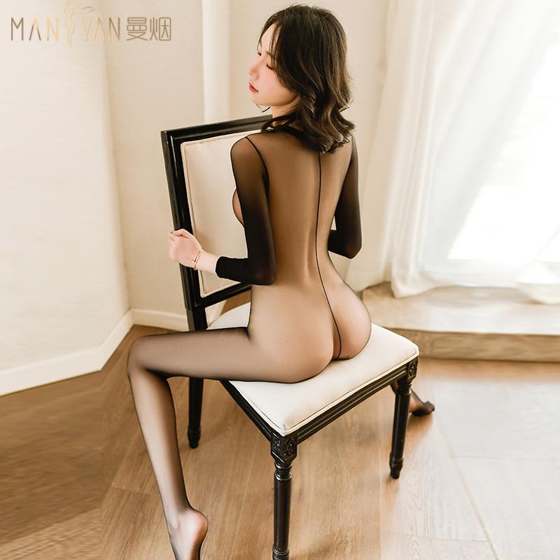 性感丝袜透明内衣开档睡衣sm情趣全包紧身束缚衣变态性感超薄免脱