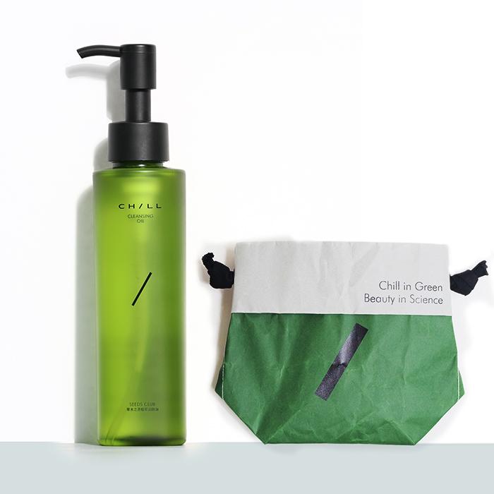 ChillSkin轻尔植物卸妆油&官方限量定制时尚简约环保单肩包组合