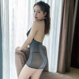 性感情趣内衣制服诱惑激情套装骚秘书蕾丝短裙透明私房睡衣火辣